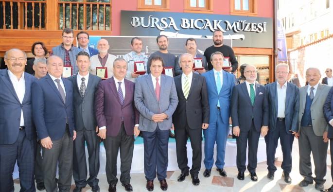 Bursa'da bıçağın sanatkarları ödüllendirildi