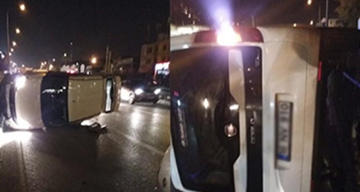 Bursa'da kontrolden çıkan araç takla attı:1 yaralı