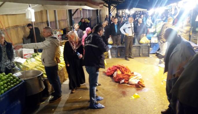 Bursa'da mandalina dehşeti! 2 pazarcıya kurşun yağdırdı