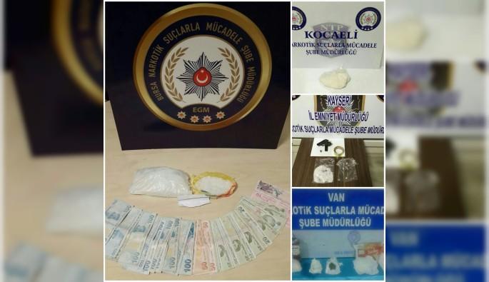 Bursa merkezli 'Şok baskın' uyuşturucu operasyonu