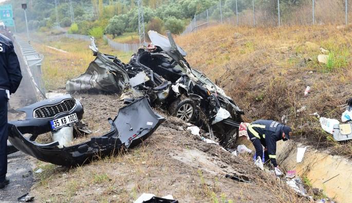Bursa otoyolunda meydana gelen kaza dehşet saçtı