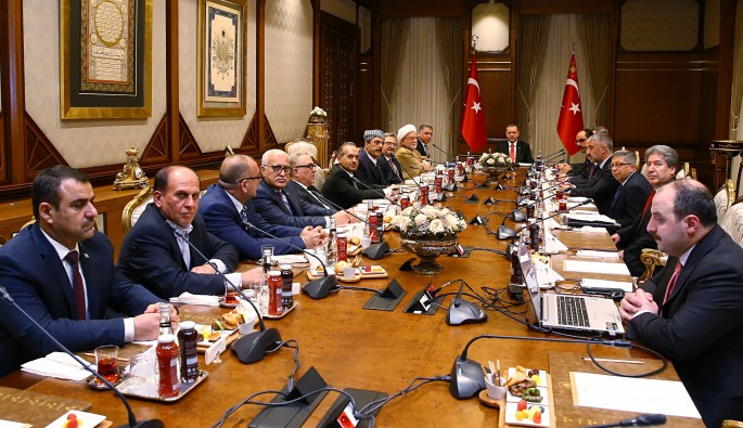 Cumhurbaşkanı Erdoğan, Irak Türkmenlerini kabul etti