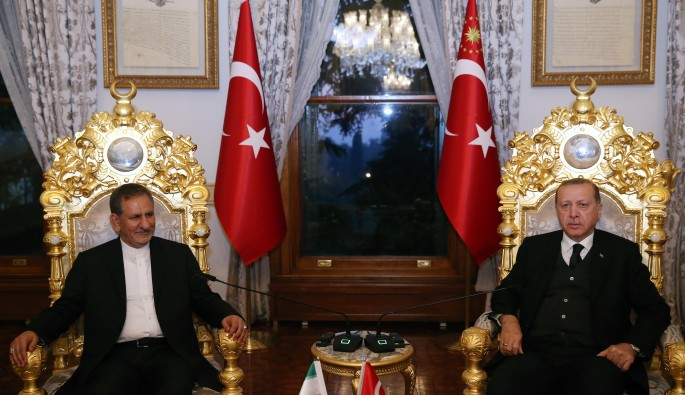 Cumhurbaşkanı Erdoğan, İran Cumhurbaşkanı Birinci Yardımcısı Cihangiri'yi kabul etti