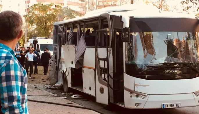 Mersin'de saldırının gerçekleştiği bölgede inceleme