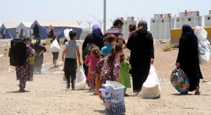 Suriyeli kafileler temizlenen bölgelere geri dönüyor