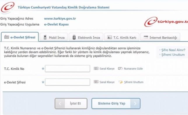 E-devlet'te yeni hizmet