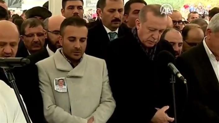 Erdoğan arkadaşı Güdük'ün cenaze törenine katıldı
