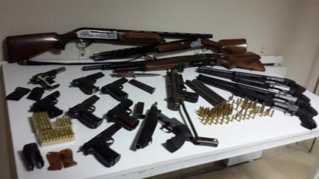 63 silah ele geçirildi