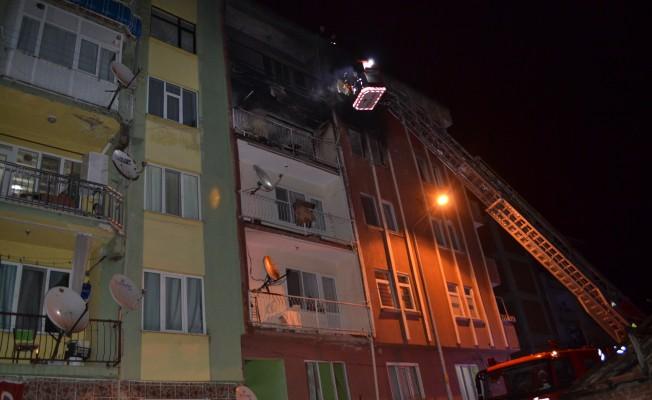 Bursa'da Suriyelilerin kaldığı evde yangın çıktı
