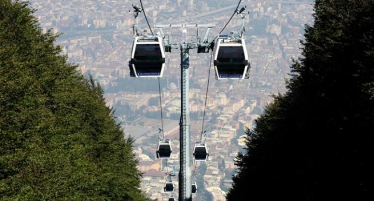 Bursa'da teleferiğe lodos engeli