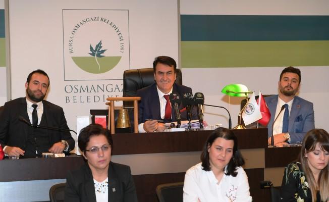 Bursa  Osmangazi Belediye Meclisi'nin yılın son toplantısı