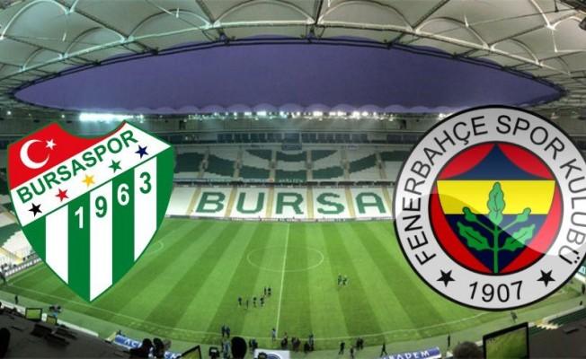Bursaspor- Fenerbahçe maçına yoğun ilgi