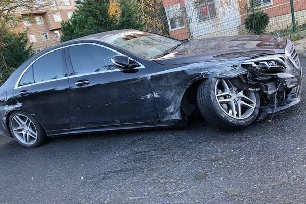 Kulüp başkanı trafik kazası geçirdi
