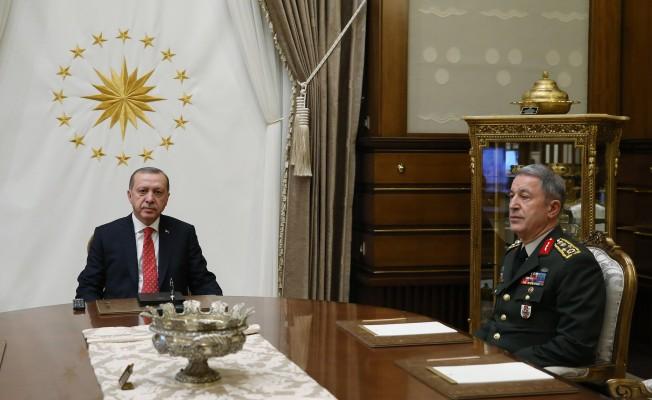 Cumhurbaşkanı Erdoğan, Orgeneral Akar'ı kabul etti