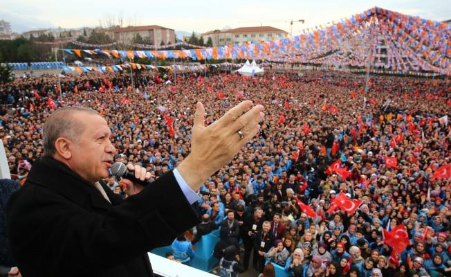 """Erdoğan: """"Bursa'yı şaha kaldırmadan bize dinlenmek haramdır"""""""