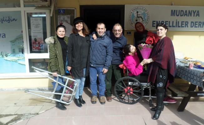 Bursa'da Sevgililer Gününde engelliler unutulmadı