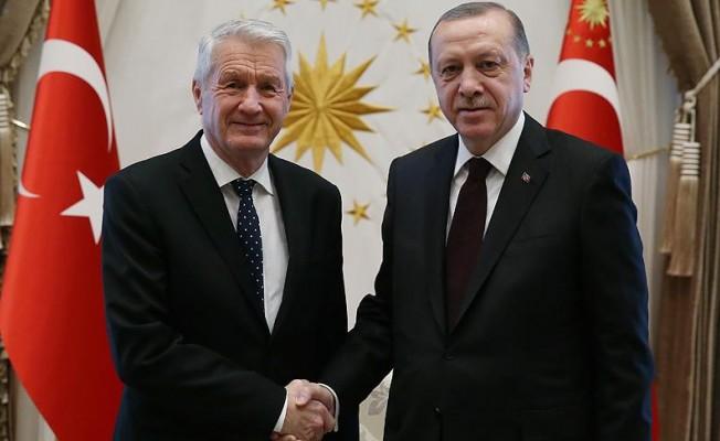 Cumhurbaşkanı Erdoğan, Jagland'ı kabul etti