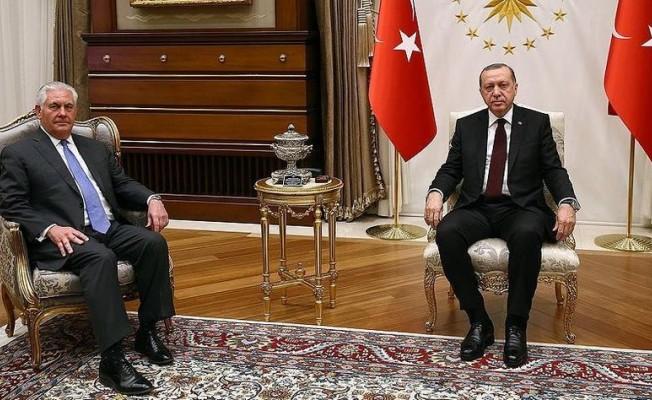 Cumhurbaşkanı Erdoğan Tillerson görüşmesi başladı