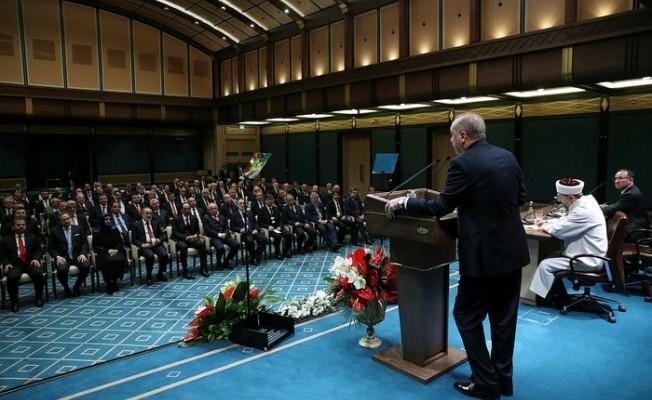 Cumhurbaşkanı Erdoğan, il müftüleriyle bir araya geldi