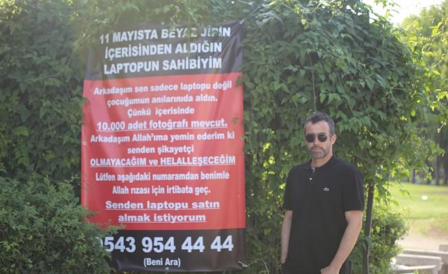 Bursa'da bilgisayarını çalan hırsıza böyle seslendi