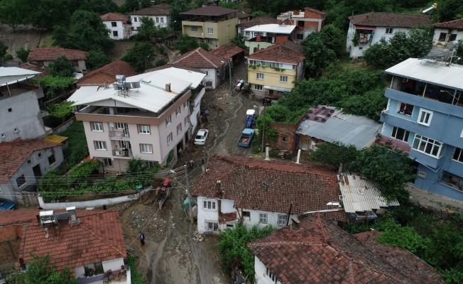 Bursa'daki sel felaketi havadan böyle görüntülendi