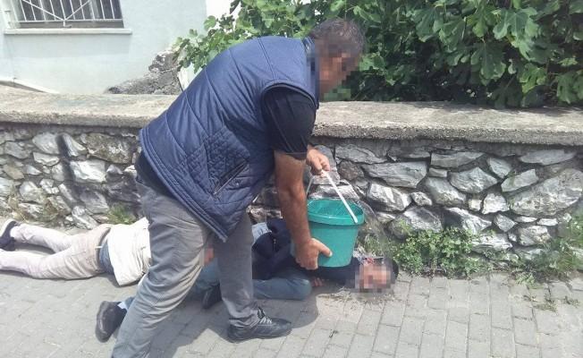 Bursa'da uyuşturucu şoku! Su dolu kovayla...