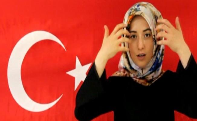 Erzincan'da işaret dili ile 15 Temmuz Şehitleri anıldı