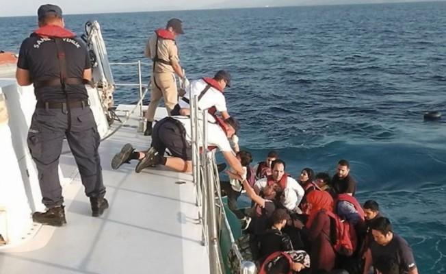 Aydın'da 37 düzensiz göçmen kurtarıldı