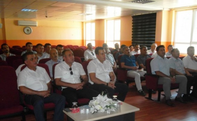 Çandıroğlu, Bozdoğan'da okul müdürleri ile bir araya geldi