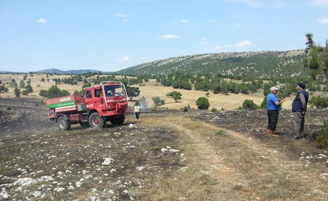 Dodurga'da arazi yangını