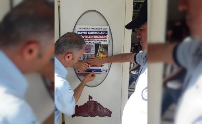 Elazığ'da milli para kullanımı için afişler asıldı