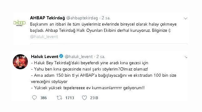Haluk Levent sosyal medyada güldürdü