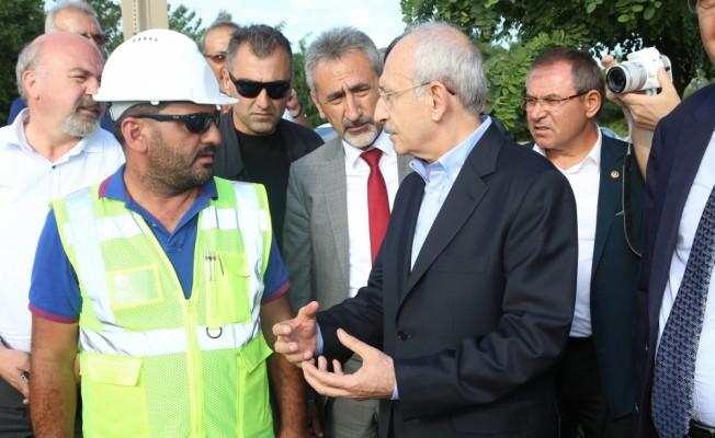 Kılıçdaroğlu, Ordu'daki sel bölgesini inceledi