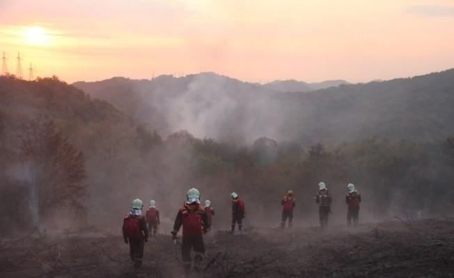 Kırım'da başlayan orman yangını söndürülemiyor