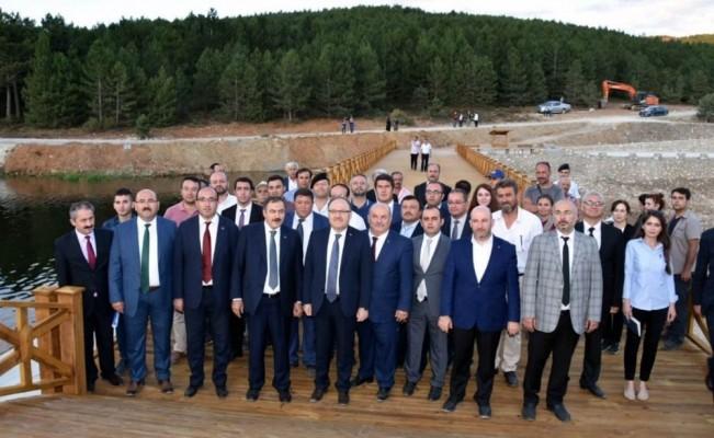 Milletvekili Eroğlu açılış ve incelemeler için Sandıklı'da
