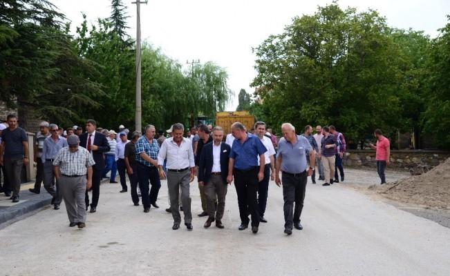 Saray'da doğalgaz sevinci