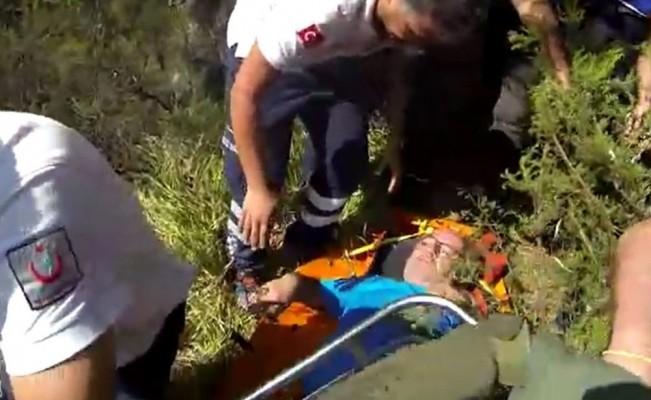 Uludağ gezisinde ayağı kırılan şahıs askeri helikopterle hastaneye kaldırıldı