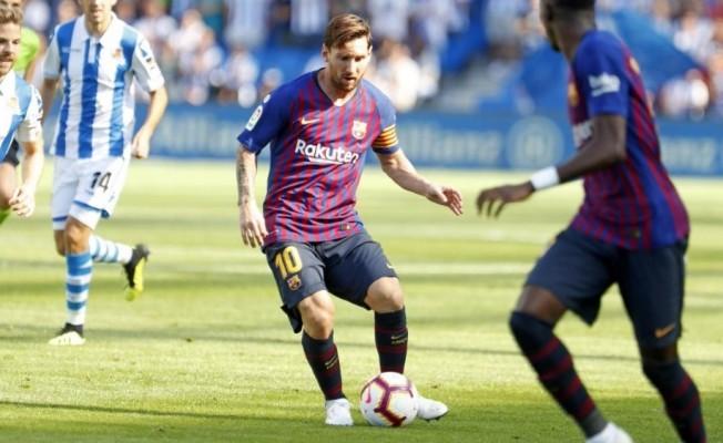 Barcelona,  Real Sociedad galibiyetiyle 4'te 4 yaptı