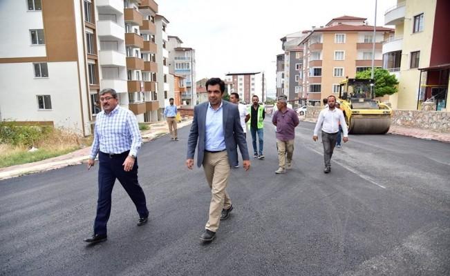 Başkan Can, asfalt çalışmalarını inceledi