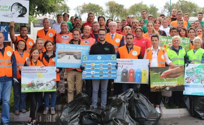 Daha temiz bir dünya için çöp topladılar