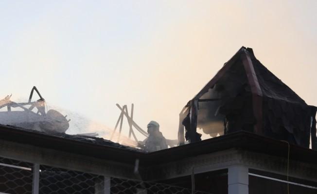 Denizli'de butik otelde yangın