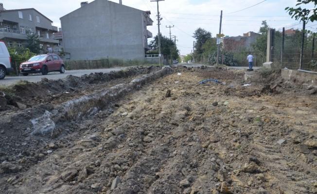 Ergene Belediyesi yol çalışmalarına devam ediyor