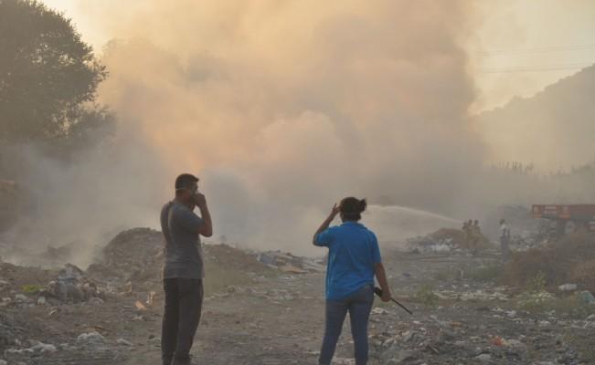 Muğla'da kağıt fabrikasında çıkan yangın söndürüldü