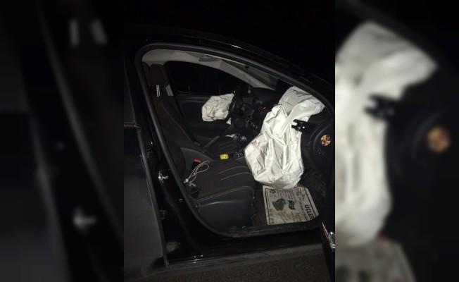 Otomobilin çarptığı ayı telef oldu