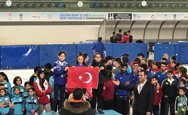Short Track Türkiye rekoru Erzurum'da kırıldı