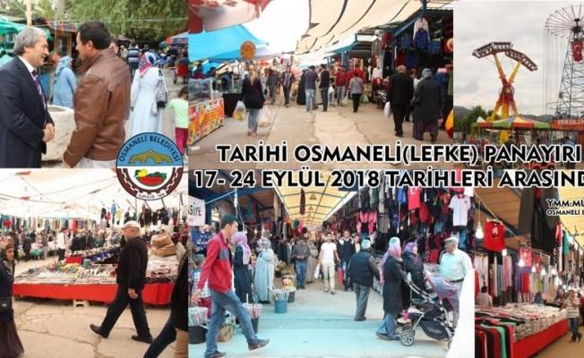 Tarihi Osmaneli Panayırı 17-24 Eylül tarihleri arasında