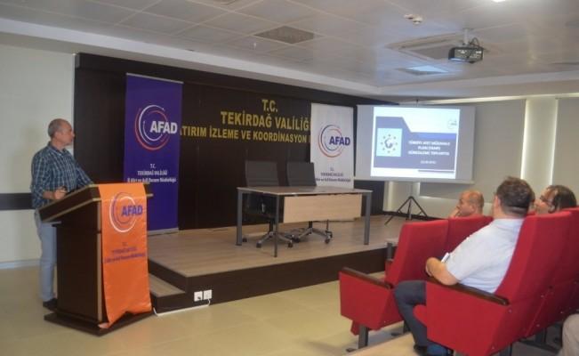 Tekirdağ'da AFAD'dan koordinasyon ve işbirliği toplantısı