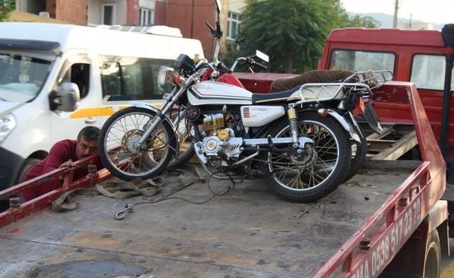 66 motosiklet trafikten men edildi!