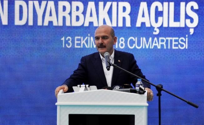 """Bakan Soylu: """"Diyarbakır'da 2014'te 621 olan terör olayı sayısı bu yıl 4'e düştü"""""""