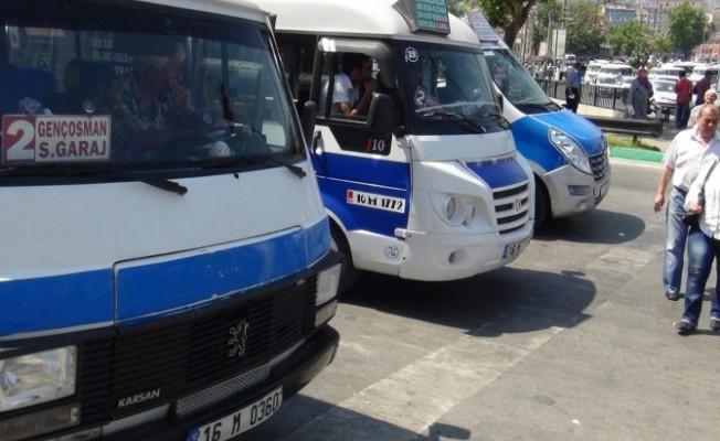 Bursa'da minibüslere zam geldi!